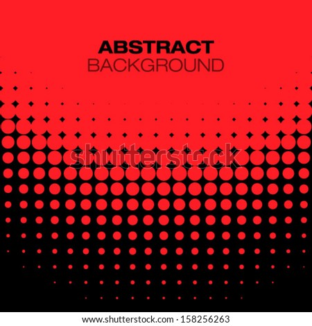 Abstract Black Red Halftone Background, vector illustration  - stock vector