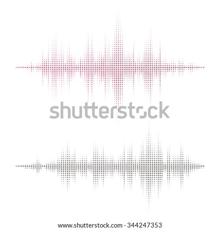 Abstract black sound waves background for party, DJ, pub, clubs, discos. Audio equalizer technology. Vector illustration - stock vector