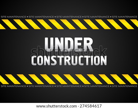 abstract black under construction background vector illustration - stock vector