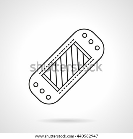 Abstract blood glucose meter. Medical devices for patient. Health care concept.  Flat line style vector icon - stock vector