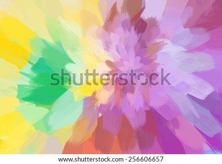 Abstract blossom brush strokes background. Vector version - stock vector