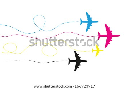 abstract blue airplane background  - stock vector
