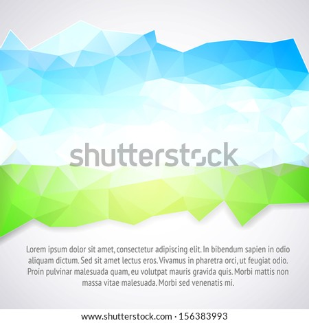 Abstract blue and green background. Vector illustration. - stock vector