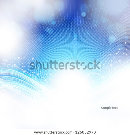 abstract blue and light background. - stock vector