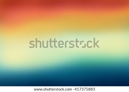 Abstract blue and orange blurred background. Colorful gradient backdrop for web design or screen wallpaper - stock vector