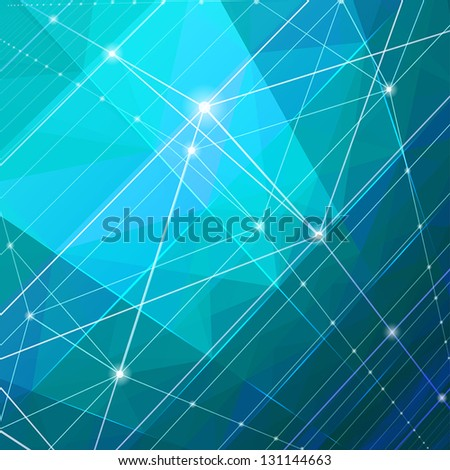 Abstract blue background. - stock vector