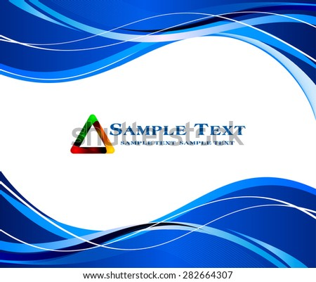 Abstract blue background  - stock vector