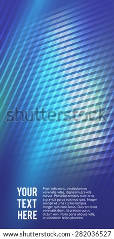 Abstract blue background advertising brochure design elements. Glowing light mosaic graphic form for elegant flyer. Vector illustration EPS 10 for booklet layout page,  leaflet template, newsletters - stock vector