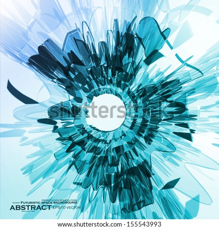 Abstract blue background, futuristic shape illustration eps10 - stock vector