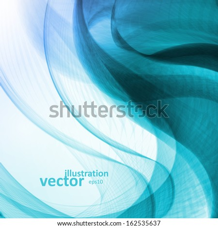 Abstract blue background,  futuristic wavy vector illustration eps10 - stock vector