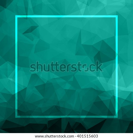Abstract blue background. Geometric abstract vector background, pastel color. Modern stylish abstract design poster, cover, card design. Polygonal vintage texture, dots pattern and geometric elements - stock vector