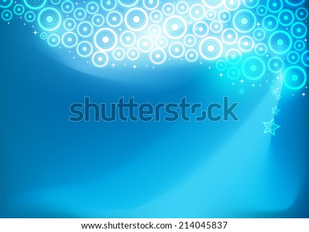 Abstract blue background image. Vector, illustration. - stock vector