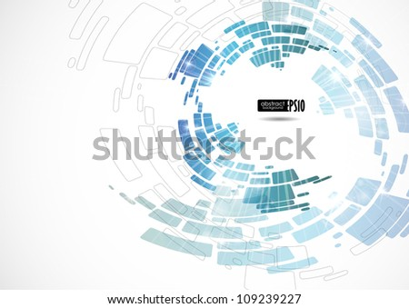 Abstract blue background. Vector illustration. Eps 10. - stock vector