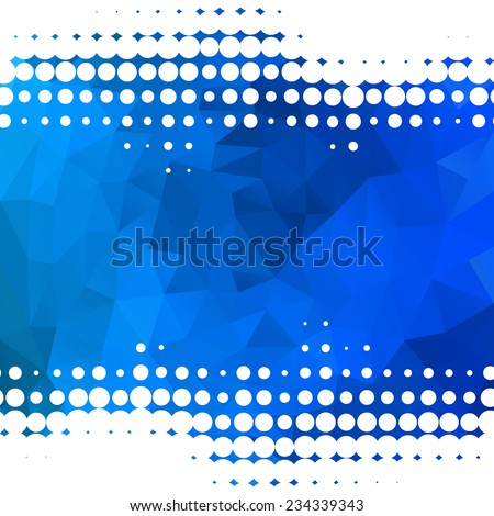 Abstract blue background with dots - stock vector