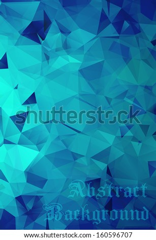 Abstract blue background with geometric and origami elements. Jpeg version also available in gallery - stock vector