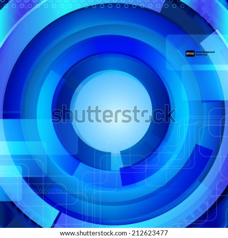 Abstract blue background with techno elements.  - stock vector
