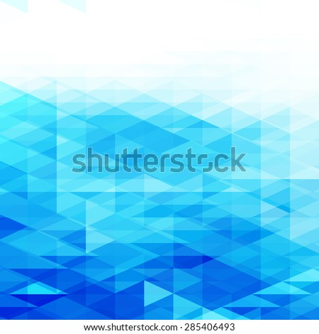 Abstract blue background with white copyspace area - stock vector