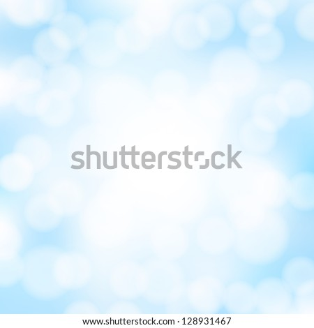 abstract blue bokeh background - stock vector