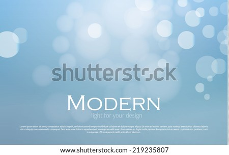 Abstract blue bokeh background. Merry Christmas. Vector illustration - stock vector