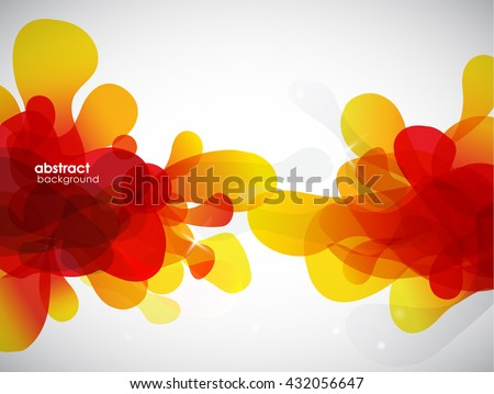 Abstract blue bubbles with place for your own text. - stock vector