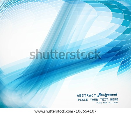 abstract blue business technology colorful wave vector illustration - stock vector