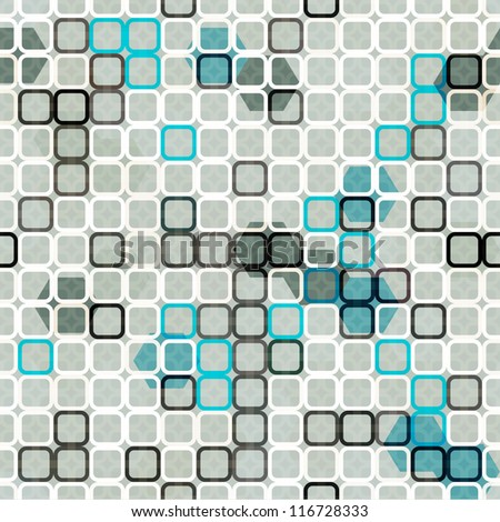 abstract blue cells seamless - stock vector