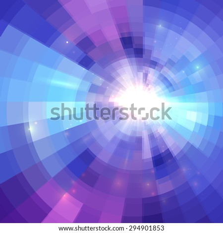 Abstract blue circle technology mosaic vector background - stock vector