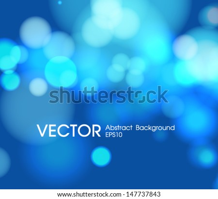 Abstract blue  circular bokeh background - stock vector