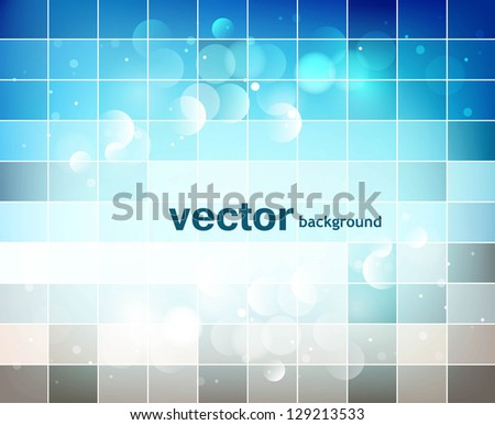 abstract blue colorful mosaic background vector illustration - stock vector