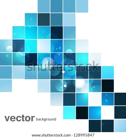 abstract blue colorful mosaic whit background vector design - stock vector