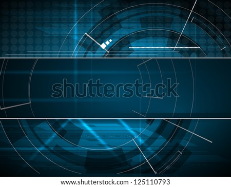 abstract blue computer technology business banner background - stock vector