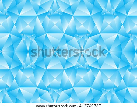 abstract blue crystal background vector illustration - stock vector