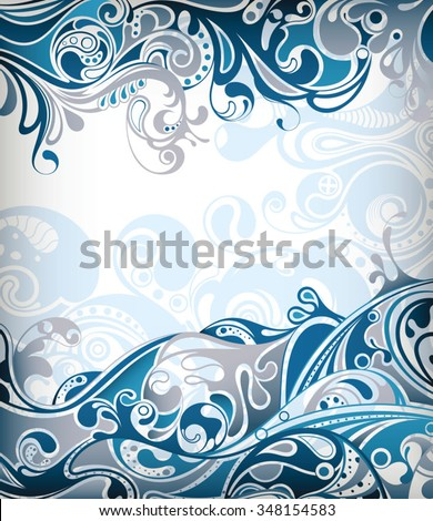 Abstract Blue Curve - stock vector