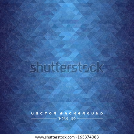 Abstract blue geometric background.  Vector illustration for your business presentation. - stock vector