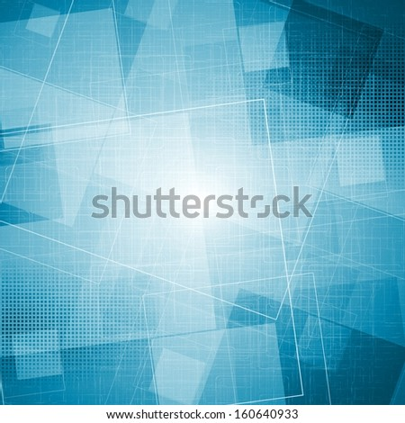 Abstract blue grunge vector texture. Tech vector design - stock vector