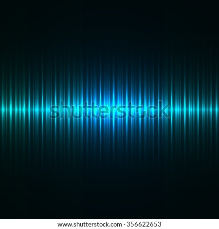 Abstract blue light strokes vector background. - stock vector