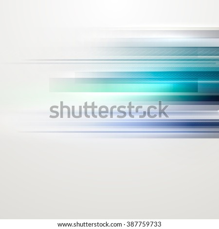 Abstract blue lines on a light background. - stock vector