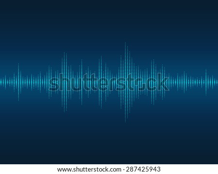 Abstract blue luminous sound waves background for parties, clubs, discos and concerts. - stock vector