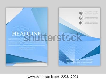 Abstract blue minimal tech flyer design. Vector template - stock vector