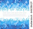 abstract blue mosaic background - stock vector