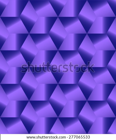 Abstract blue polygonal decorative endless pattern design vector - stock vector