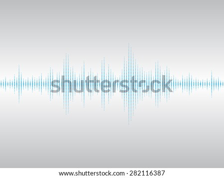 Abstract blue sound waves background for parties, clubs, discos and concerts. - stock vector