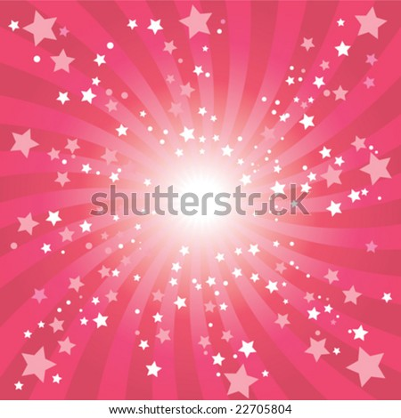 Abstract blue star background - stock vector