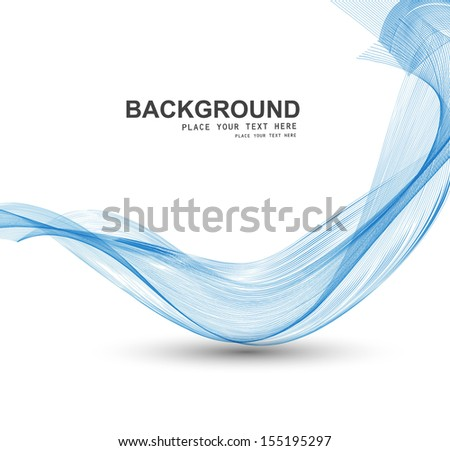 abstract blue stylish line smoke wave background vector - stock vector