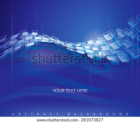 Abstract blue technical modern background.  - stock vector