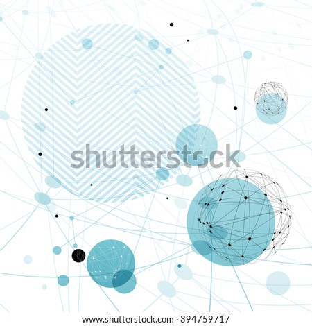 Abstract blue technology background. Design template for covers, brochures, etc - stock vector