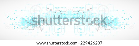 Abstract blue technology business background - stock vector