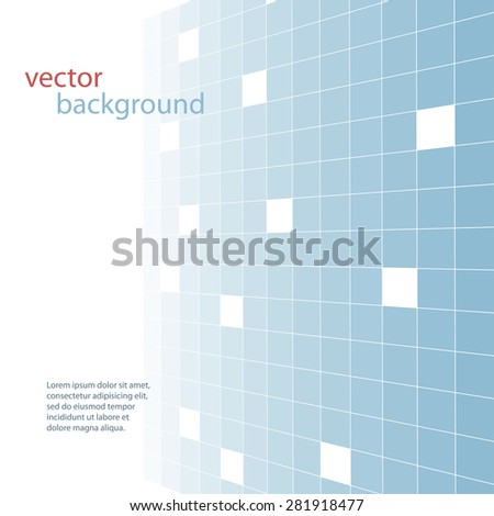 Abstract blue tiles vector background - stock vector