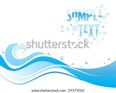 Abstract blue toned design with place of sample text - stock vector