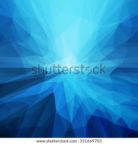 Abstract blue transparent futuristic and perspective background - stock vector